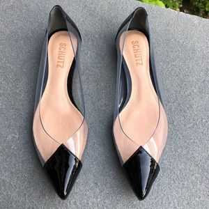 SCHUTZ patent leather clearly flat